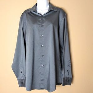 Van Heusen plus sz 16 charcoal grey dress shirt